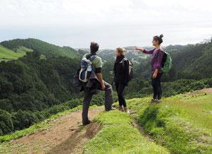 Berge und Meer –Wanderpause auf den Azoren. Foto: C. Schumann