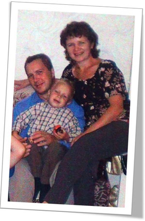 Иван и Надежда Антроповы с младшим сыном Егором.  Через несколько месяцев их брак распадется