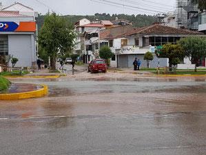 ist das Hochwasser in Peru? Nach einem regen in Cusco...