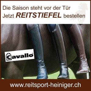 Reitsport Heiniger, Schönbühl - Blogartikel Reitstiefel von Cavallo