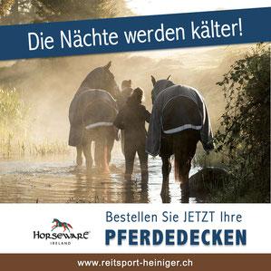 Reitsport Heiniger, Schönbühl - Blogartikel Übergangsdecken Horseware jetzt bestellen