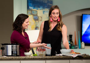 Talking about beans, heart-health, and showing my favorite slow cooker bean and sausage soup recipe on my latest Great Day SA segment!
