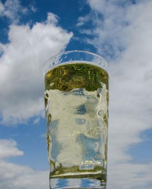 Das Dubbeglas: Die Trinkgewohnheiten in der Pfalz sind doch etwas anders. Dazu beschert das milde Klima meist anhaltende Schönwetterlagen Foto: Kochendörfer