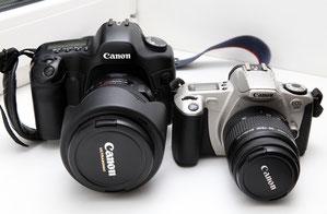 Canon EOS 300 и EOS 5D