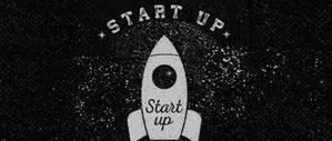 Dessin d'une fusée marquée start-up