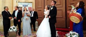 Luftballons als Hochzeitsüberraschung