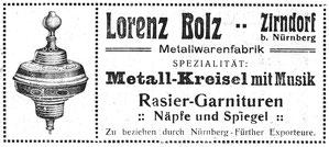 Anzeige von 1913 - Kein Hinweis auf das neue Patent.