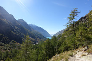 Hochtour, Dent d'Hérens, Westgrat, Tiefmattergrat, Rifugio Aosta, Hüttenweg