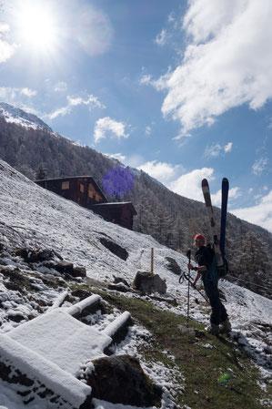 Skitour, Skihochtour, Col des Arpettes, Val d' Anniviers, Wängerhorn, Brunegghorn, Turtmannhütte, Mottec