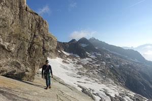 Hiendertelltihorn Ostgrat, Ostsporn, Zustieg, 2. Seillänge, Touren Gruebenkessel, Gruebenhütte, Gruebeseewli