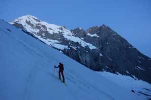 Skitour Wetterhorn, Skihochtour Wetterhorn, Rosenlaui, Rosenlauigletscher, Engelhornhütte, Dossenhütte, Wellhorn
