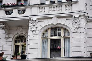 Der prachtvollste Kiez in Prenzlauer Berg: Fassade in der Bötzowstraße.