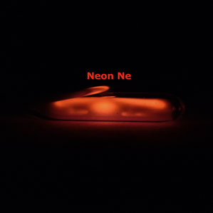 ionized neon gas ampoule, neon gas for element collection, neon gas ampoule for display, rarefied neon gas ampoule