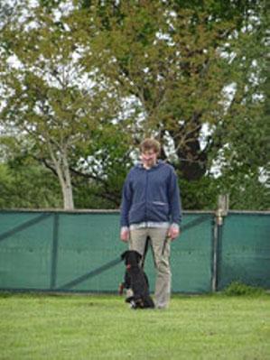 Fabian mit Hund Taja