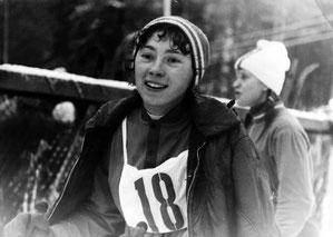 На первенстве Ленинграда во время открытия лыжного сезона. 5 декабря 1975 г.