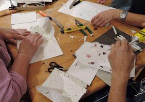 Kuverts und Billets aus handgeschöpftem Papier