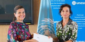 Gabriela Ramos, UNESCO ADG/SHS, and Audrey Azoulay, UNESCO Director-General