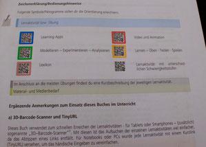 iKON Biologie Schulbuch - Erklärungen der QR-Codes