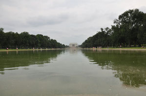 Foto del giorno: vista del Lincoln Memorial