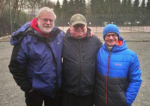 v.l. Heinz Kamp, Jürgen Reckemeyer, Uwe Seelaff