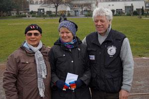 v. l. Klaus Hübner, Ilse Rehberg, Gerd Hahlbrock