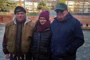 v.l. Ernst, Elina und Jürgen
