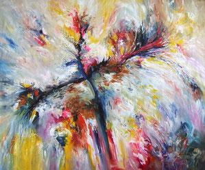 Ein typisches, abstraktes Gemälde.