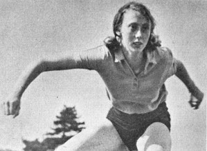 Liz Toulalan, who later married fellow internationalist Sandy Sutherland, set 80 metres hurdles records on Murrayfield's grass track.