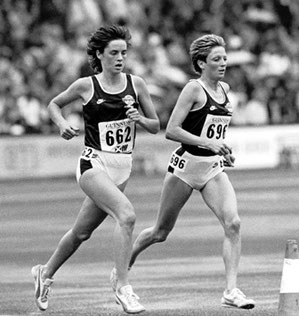 Christine Price and Andrea Everett (662) at the 1986 Commonwealth Games