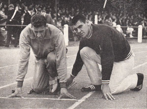 Mike Lindsay (right) with brother Chris during the Britain B internatonal v Norway at Hull