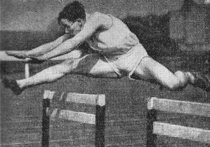 John Hart, winner of the hurdles