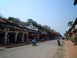 ルアンパバーンの町並み