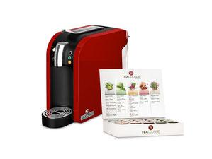 Teekann Tealounge System in Rot mit Probier-Set zum Starten