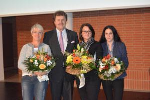 Das Team der Tagung begrüßt Sie herzlich in Frankenthal: (v.l.n.r.) Dorothea Brantschen, Dr. med. Klaus Fritz, Angelika Morio und Jessika Dal Pra. (Foto: Fritz)