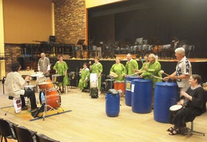 Le groupe de percussions