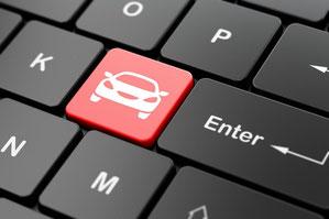 Tastatur mit Auto - Fahrzeugwertermittlung