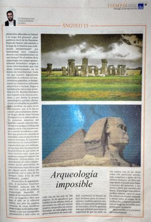 Reportaje-reseña en el dominical del periódico Diario De Avisos (Tenerife)