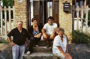 Im Stadthaus von Antonie, mit Frau und Vater