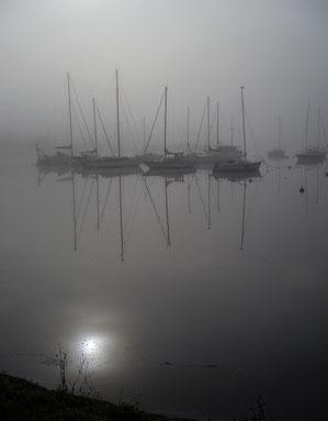 La Rance dans le brouillard