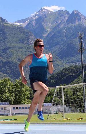 Brenton Rowe beim Vorbereitungs-Trainingslager auf die EM in St. Moritz (Foto: Lauren Tonkin)