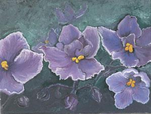 floreale, olio su tela  30x40 cm,  2014