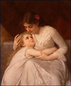 """А дитя сквозь слёзы отвечает: """"Разве вы не знаете? Моя мама та, что лучше всех""""."""