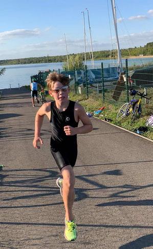 Nils wurde 2020 Triathlonvereinsmeister.