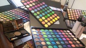 Lidschatten, Schattierfarben, Flüssiges Makeup
