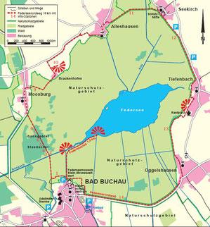 Karte Federseerundweg