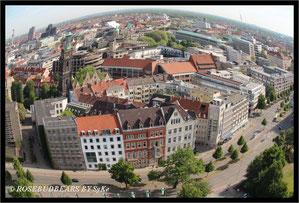 Hannovers Innenstadt von der Kuppel des Neuen Rathauses aus