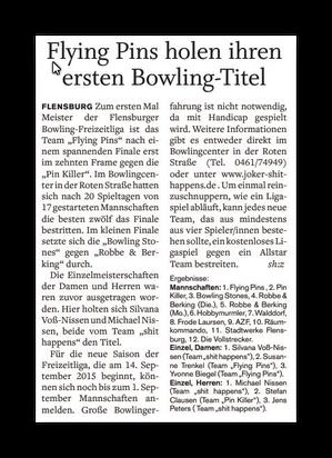 .                                                            .Flensburger Tageblatt 12.06.2015