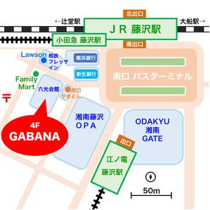 藤沢駅北口GABANAへの地図
