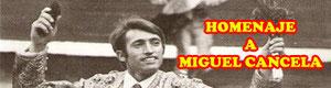 Homenaje al matador de toros Colmenareño Miguel Cancela de Colmenar Viejo