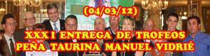 Entrega de Trofeos de la Peña Manuel Vidrié de Torrelaguna